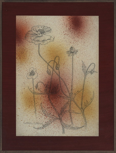 Artist Kathleen Guthrie: Poppies with blow paint