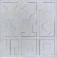Artist Michael Canney: Three quarter square, late 60s