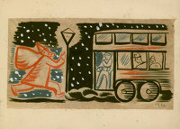 Original Christmas Card Design, 1936