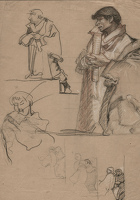 Studies for a Man Holding a Scroll,