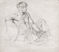 Study of Reclining Male Figure