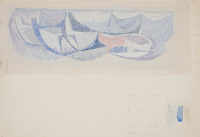 Study for Boats and lobster baskets