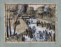 Study for 'A Burial Ceremony at...
