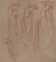 Study of Three Women Praying