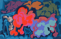 Artist Allan Milner: Flora and fauna in silhouette, late 1960s