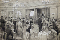 A depiction of upper class diners...