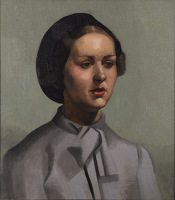 Young woman in a beret