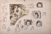 Preliminary sketches for the...