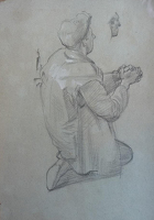 Kneeling workman - study for Campion...