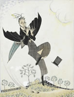Study for a Book jacket design, c. 1920