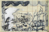 Study for Murals for the canteen of...