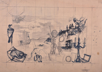 Study  for mural for the canteen of...