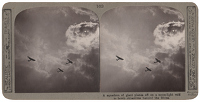 Stereoscopic print: A squadron of...