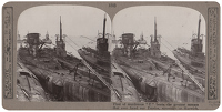 Stereoscopic print: Fleet of...