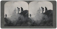 Stereoscopic print: Under cover of...