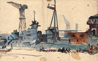 Study for The Hipper at Kiel, c. 1945