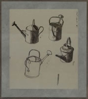 Studies for watering can, mid 1930's