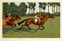 A set of three prints - Longchamps...