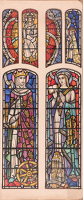Design for glass stained window