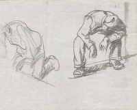 Studies of a Kneeling and Seated Man