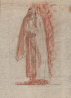 Figure study, Study for St Aidan