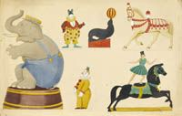 Designs for circus decoration
