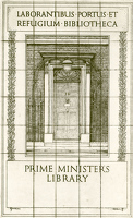 Book Plate for the Prime Ministers...