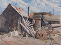 Outbuildings with machinery