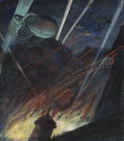 Barrage Balloons and Searchlights