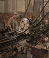 Man at a lathe