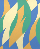 Paintings by the artist Bridget Riley