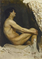 Study of a male nude, 1890's
