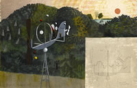 Landscape with a Garden Ornament, 1948