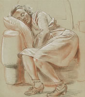 Study of Iris sleeping, mid 1940's