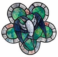 Stained glass window design with...