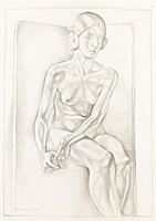 Life Study – Seated Nude, 1925